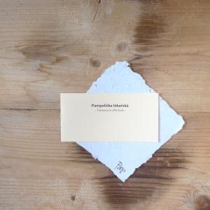 Ruční papír malý se semínky pampelišky