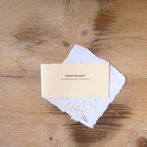 Ruční papír malý se semínky zlateně věncové