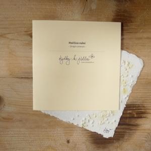 Ruční papír velký se semínky hořčice rolní