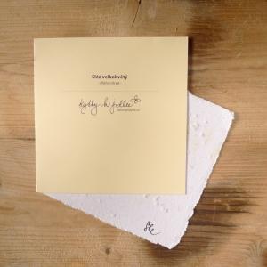 Ruční papír velký se semínky slézu velkokvětého